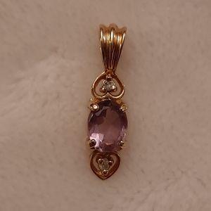 Pretty pink birthstone pendant